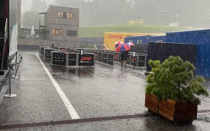 LIVE. Pioggia su Spielberg, attesa per le Libere 3