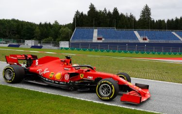 Ferrari's German driver Sebastian Vettel steers his car during the first practice session at the Austrian Formula One Grand Prix on July 3, 2020 in Spielberg, Austria. - Seven months after they last competed in earnest, the Formula One circus will push a post-lockdown re-set button to open the 2020 season in Austria on July 5. (Photo by LEONHARD FOEGER / POOL / AFP) (Photo by LEONHARD FOEGER/POOL/AFP via Getty Images)