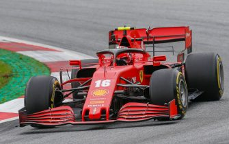 Ferrari's Monegasque driver Charles Leclerc steers his car during the first practice session at the Austrian Formula One Grand Prix on July 3, 2020 in Spielberg, Austria. - Seven months after they last competed in earnest, the Formula One circus will push a post-lockdown re-set button to open the 2020 season in Austria on July 5. (Photo by Darko Bandic / POOL / AFP) (Photo by DARKO BANDIC/POOL/AFP via Getty Images)