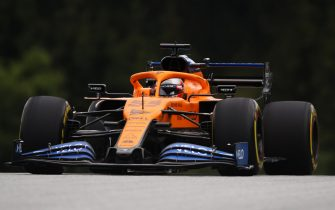 SPIELBERG, AUSTRIA - JULY 03: Carlos Sainz of Spain driving the (55) McLaren F1 Team MCL35 Renault on track during practice for the F1 Grand Prix of Austria at Red Bull Ring on July 03, 2020 in Spielberg, Austria. (Photo by Bryn Lennon/Getty Images)