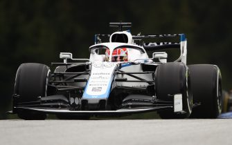 SPIELBERG, AUSTRIA - JULY 03: George Russell of Great Britain driving the (63) Williams Racing FW43 Mercedes on track during practice for the F1 Grand Prix of Austria at Red Bull Ring on July 03, 2020 in Spielberg, Austria. (Photo by Bryn Lennon/Getty Images)