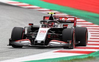 Haas F1's Danish driver Kevin Magnussen steers his car during the first practice session at the Austrian Formula One Grand Prix on July 3, 2020 in Spielberg, Austria. - Seven months after they last competed in earnest, the Formula One circus will push a post-lockdown re-set button to open the 2020 season in Austria on July 5. (Photo by Mark Thompson / POOL / AFP) (Photo by MARK THOMPSON/POOL/AFP via Getty Images)