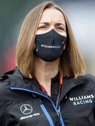 SPIELBERG, AUSTRIA - JULY 03:  Williams Deputy Team Principal Claire Williams arrives at the track during practice for the F1 Grand Prix of Austria at Red Bull Ring on July 03, 2020 in Spielberg, Austria. (Photo by Peter Fox/Getty Images)