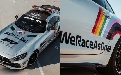 #WeRaceAsOne, F1 in pista contro il razzismo. FOTO