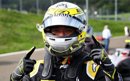 Formula 2, Zhou in pole. Quinto Mick Schumacher