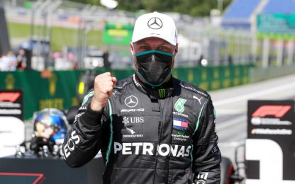 "Bottas, emozione da pole: ""Sto tremando"". VIDEO"