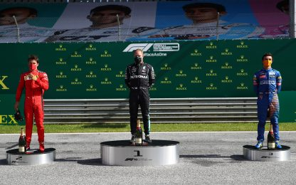 Tutti in pista: il podio ai tempi del Covid. FOTO