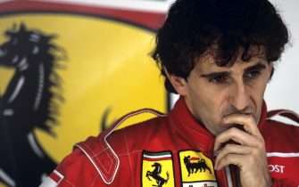 Alain Prost, Grand Prix of Germany, Hockenheimring, July 28, 1991. (Photo by Paul-Henri Cahier/Getty Images)