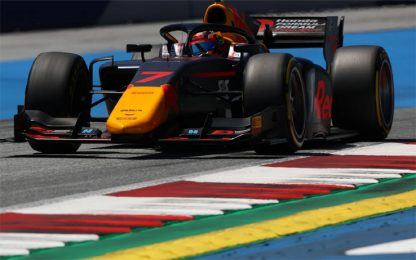 Formula 2, pole position per Tsunoda. 4° Ghiotto