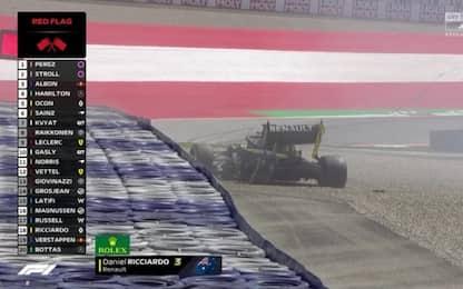 Libere 2 LIVE: a muro Ricciardo, sta bene