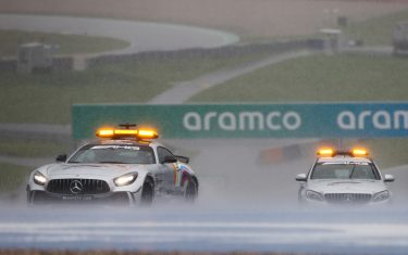 RED BULL RING, AUSTRIA - JULY 11: The Safety Car and the Medical Car test the track conditions during the Styrian GP at Red Bull Ring on Saturday July 11, 2020 in Spielberg, Austria. (Photo by Andy Hone / LAT Images)