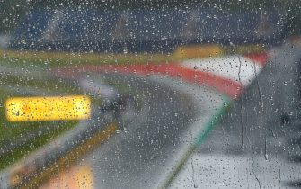 RED BULL RING, AUSTRIA - JULY 11: Rain pours down at the circuit during the Styrian GP at Red Bull Ring on Saturday July 11, 2020 in Spielberg, Austria. (Photo by Steven Tee / LAT Images)