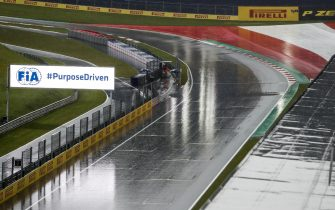 RED BULL RING, AUSTRIA - JULY 11: Heavy Rain during the Styrian GP at Red Bull Ring on Saturday July 11, 2020 in Spielberg, Austria. (Photo by Steven Tee / LAT Images)