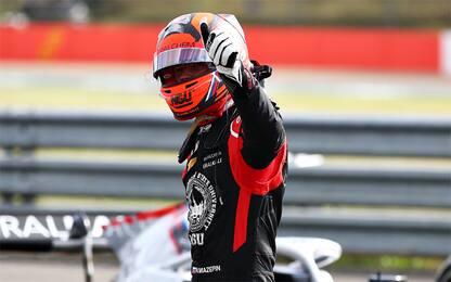 F2, Mazepin vince la Feature Race. Schumi nono
