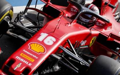 Gomme e ala posteriore: una Ferrari in ripresa
