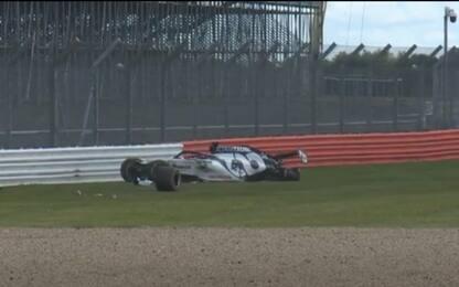 Kvyat, le cause dell'incidente a Silverstone