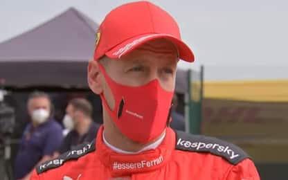 """Vettel: """"E' come andare contro un muro"""""""