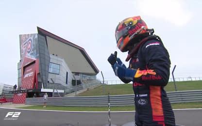 F2, vince Tsunoda in Gara-2 davanti a Schumi Jr