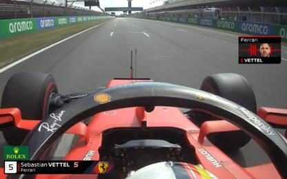 Vettel, in quel team radio tutta la sua reazione