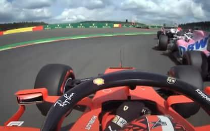 Raggio di sole: la magia di Leclerc a Spa. VIDEO