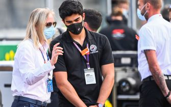 SPA-FRANCORCHAMPS, BELGIUM - AUGUST 30: Friends and family of the late Anthoine Hubert stand to observe a minutes silence on the grid in his honour during the Belgian GP at Spa-Francorchamps on Sunday August 30, 2020 in Spa, Belgium. (Photo by Mark Sutton / Sutton Images)