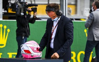 SPA-FRANCORCHAMPS, BELGIUM - AUGUST 30: Helmet of Anthoine Hubert on the grid during the Belgian GP at Spa-Francorchamps on Sunday August 30, 2020 in Spa, Belgium. (Photo by Mark Sutton / Sutton Images)