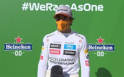 """Sainz, raggio di luce Ferrari: """"Ho dovuto volare"""""""
