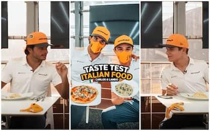 """Sainz e Norris: """"sfida"""" sul cibo italiano. VIDEO"""