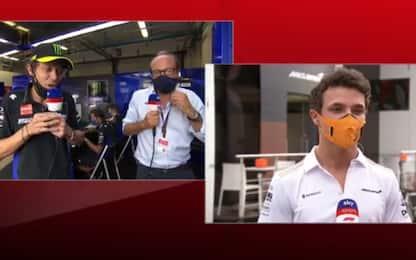 """Rossi, siparietto con Norris: """"Felice del..."""""""