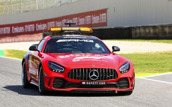 MUGELLO CIRCUIT, ITALY - SEPTEMBER 10: Red 100th Ferrari tribute livery on the Safety Car during the Tuscany GP at Mugello Circuit on Thursday September 10, 2020, Italy. (Photo by Mark Sutton / Sutton Images)