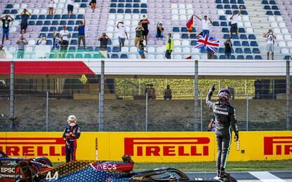 Mugello, storica pole di Hamilton. Leclerc 5°