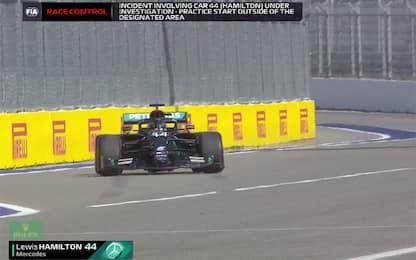 Hamilton, doppia penalità: ecco i motivi