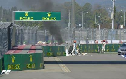 Incidente Ghiotto-Aitken: fiamme e GP interrotto