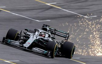 epa08000591 British driver Lewis Hamilton from Mercedes team, participates in the first free training for the Brazilian Grand Prix, which will be held on sunday at the Interlagos circuit in Sao Paulo, Brazil 15 November 2019. The Brazilian Formula One Grand Prix will take place on 17 November 2019 at the Interlagos circuit in Sao Paulo.  EPA/Sebastiao Moreira