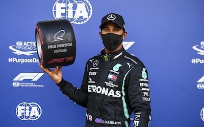 Lewis, 100 pole position: tutti i suoi record