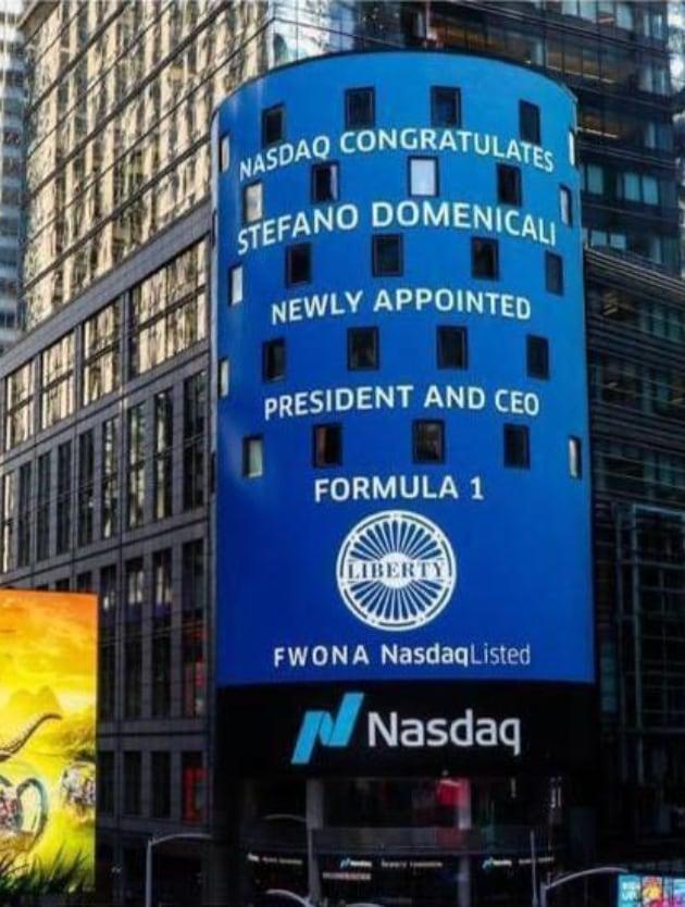 Domenicali nuovo Ceo della F1, le congratulazioni del Nasdaq a New York