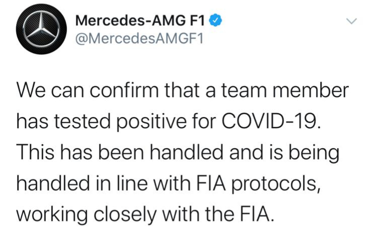 Formula 1, Mercedes: c'è un positivo al Covid-19 | Sky Sport