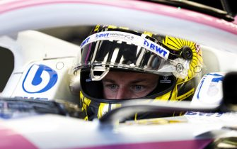 NüRBURGRING, GERMANY - OCTOBER 10: Nico Hulkenberg, Racing Point RP20, in the cockpit of the car during the Eifel GP at Nürburgring on Saturday October 10, 2020, Germany. (Photo by Glenn Dunbar / LAT Images)