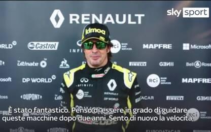 """Alonso torna in pista: """"Sensazione incredibile"""""""