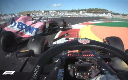 Verstappen-Stroll, incidente nelle Libere. VIDEO