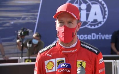 """Vettel: """"SF1000 complicata, ma non per Leclerc"""""""