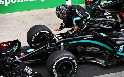 Hamilton, 92 vittorie. Bella Ferrari, Leclerc 4°