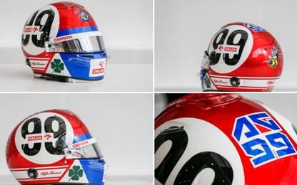 Giovinazzi, casco vintage in onore dell'Alfa T33