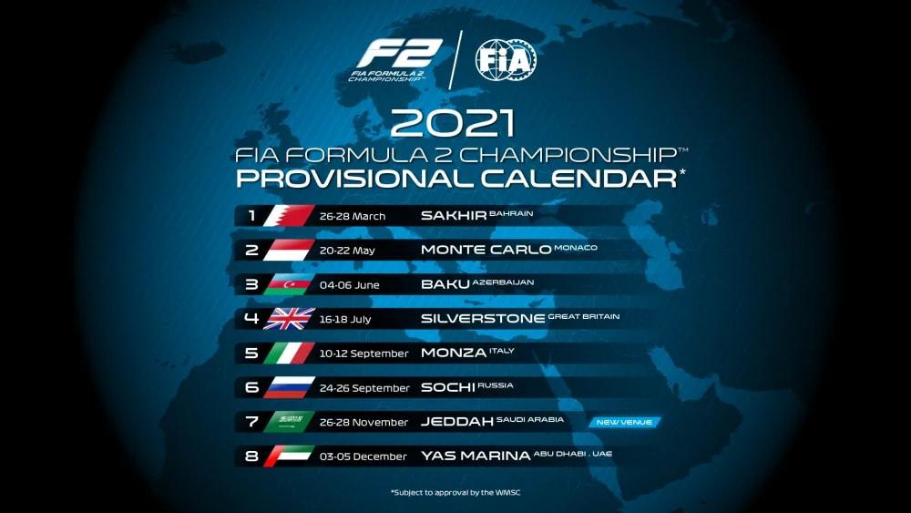 Formula 2 e Formula 3, i calendari provvisori del Mondiale 2021