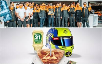 Norris, 21 anni: la McLaren gli fa la festa. VIDEO