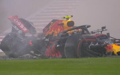 Albon a muro nelle FP2: illeso, Red Bull distrutta