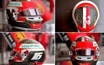 Leclerc d'oro: casco speciale per il Bahrain. FOTO
