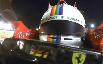 """Vettel e la bandiera rossa: """"Un altro cane?"""""""
