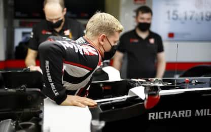 Mick già al lavoro: primo contatto con Haas. FOTO