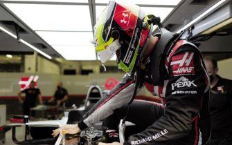 BAHRAIN INTERNATIONAL CIRCUIT, BAHRAIN - DECEMBER 02: Mick Schumacher sits in his Haas VF-20 for his seat fitting during the Sakhir GP at Bahrain International Circuit on Wednesday December 02, 2020 in Sakhir, Bahrain. (Photo by Andy Hone / LAT Images)